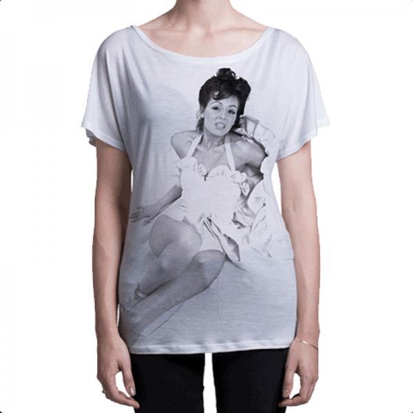 Buy Online Roxy Music - Roxy Music Ladies White T-Shirt