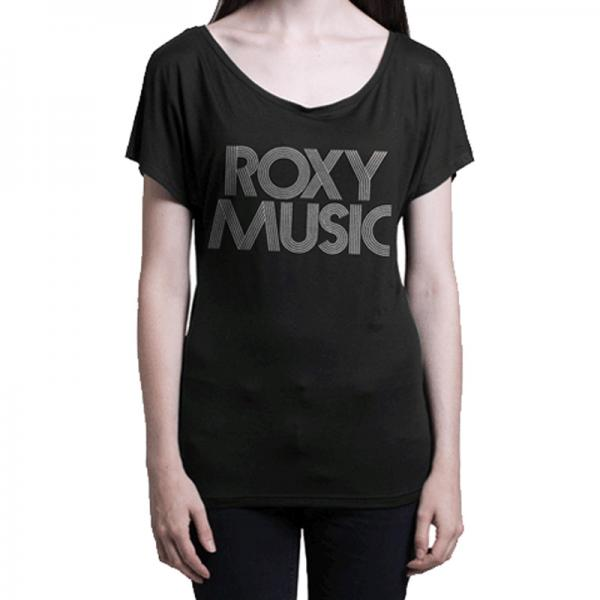 Buy Online Roxy Music - Roxy Music - Text Ladies T-Shirt