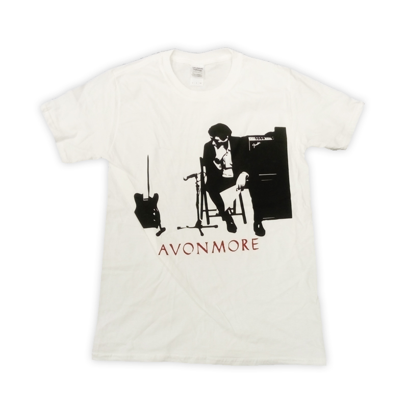 Buy Online Bryan Ferry - Avonmore 2014 European Tour Studio White T-Shirt (w/ Dates)