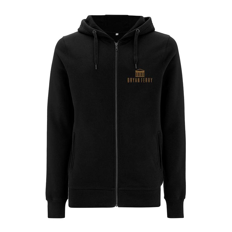 Buy Online Bryan Ferry - Name In Tan Black Zip Hoody