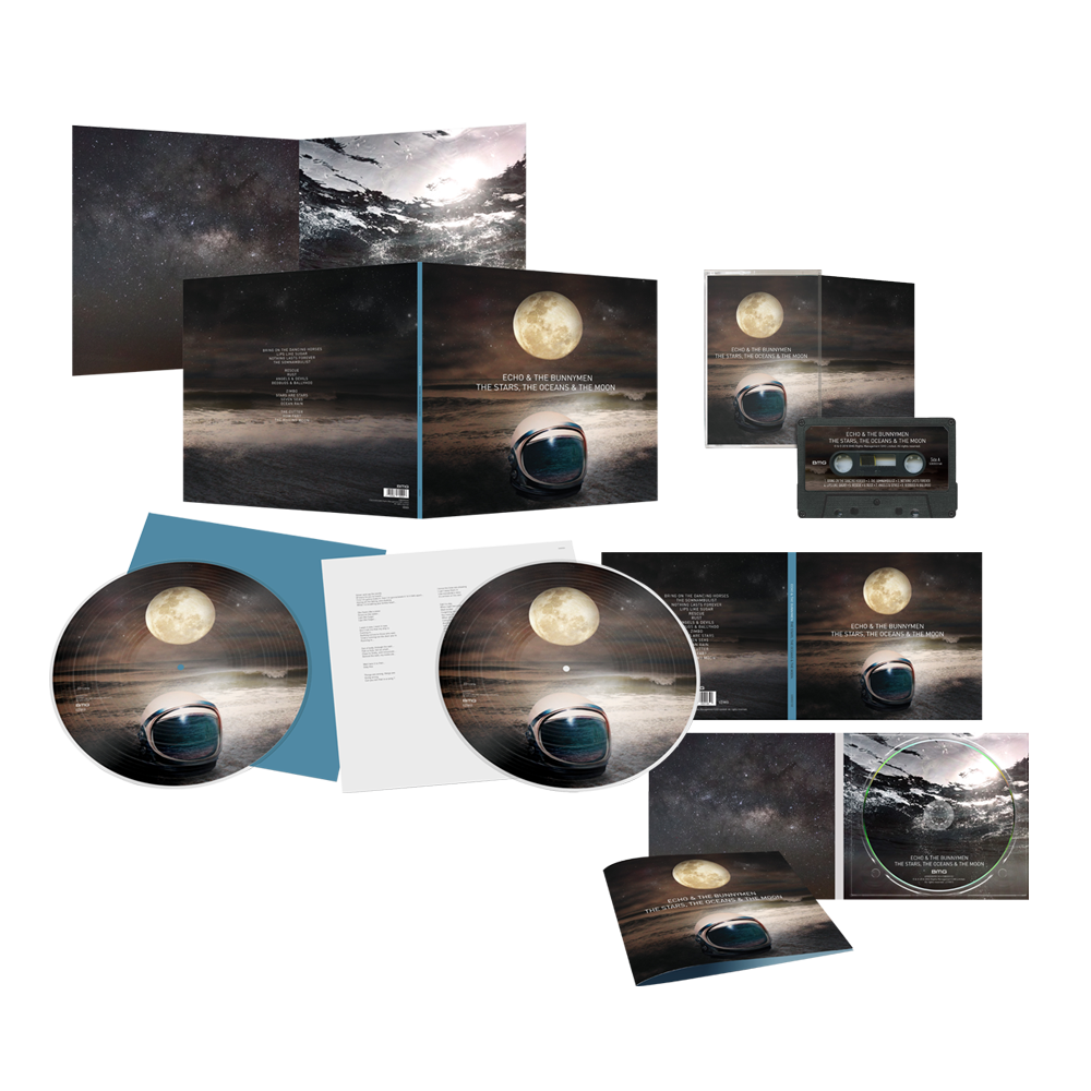 Buy Online Echo & The Bunnymen - The Stars, The Oceans & The Moon CD + Double Picture Disc LP (Signed) + Cassette