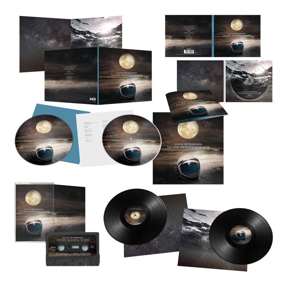 Buy Online Echo & The Bunnymen - The Stars, The Oceans & The Moon CD (Signed) + Double LP (Signed) + Double Picture Disc LP (Signed) + Cassette