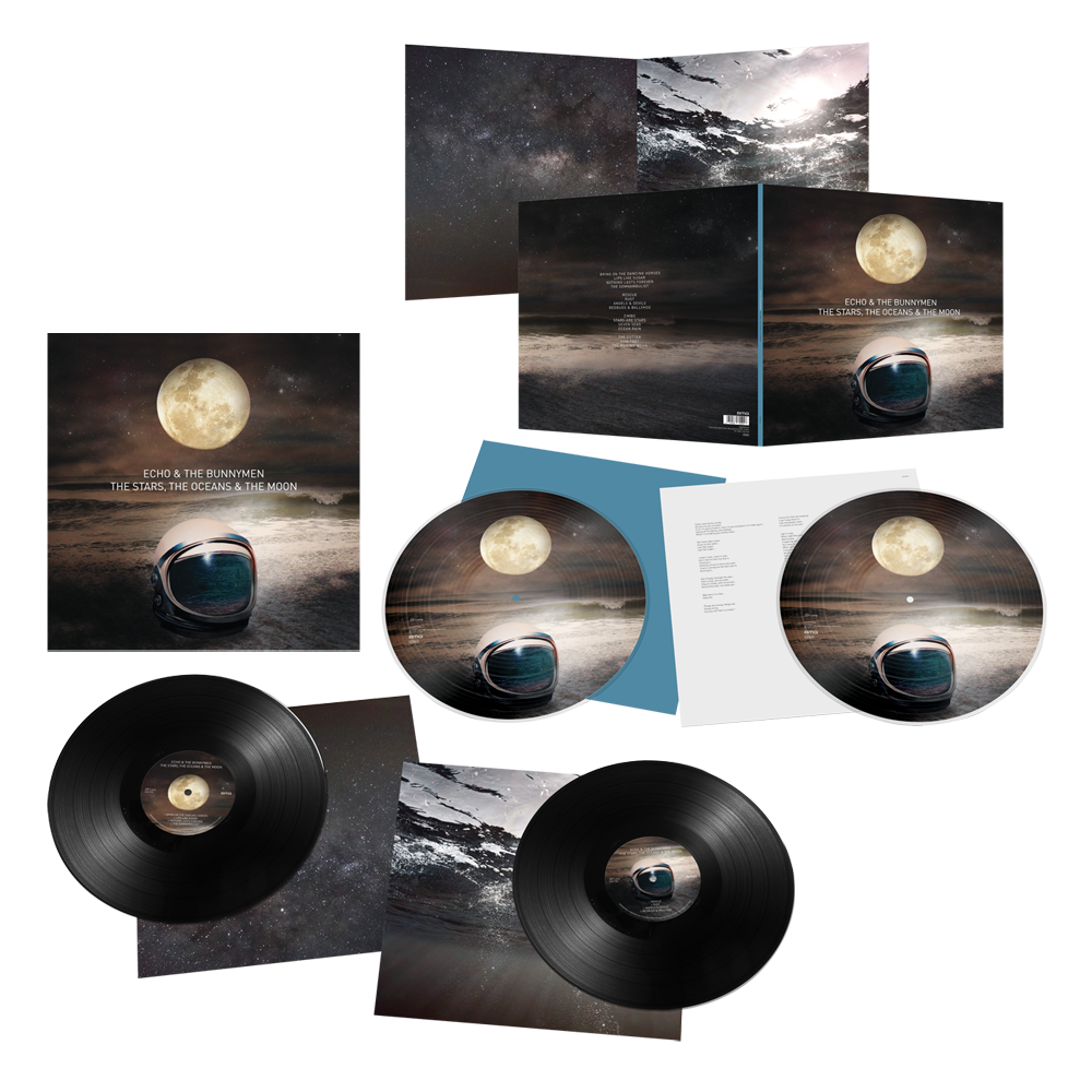 Buy Online Echo & The Bunnymen - The Stars, The Oceans & The Moon Double LP (Signed) + Double Picture Disc LP (Signed)