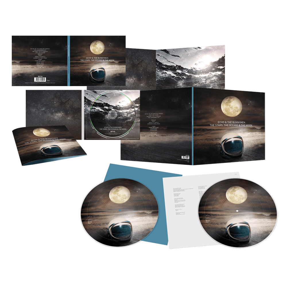 Buy Online Echo & The Bunnymen - The Stars, The Oceans & The Moon CD + Double Picture Disc LP (Signed)