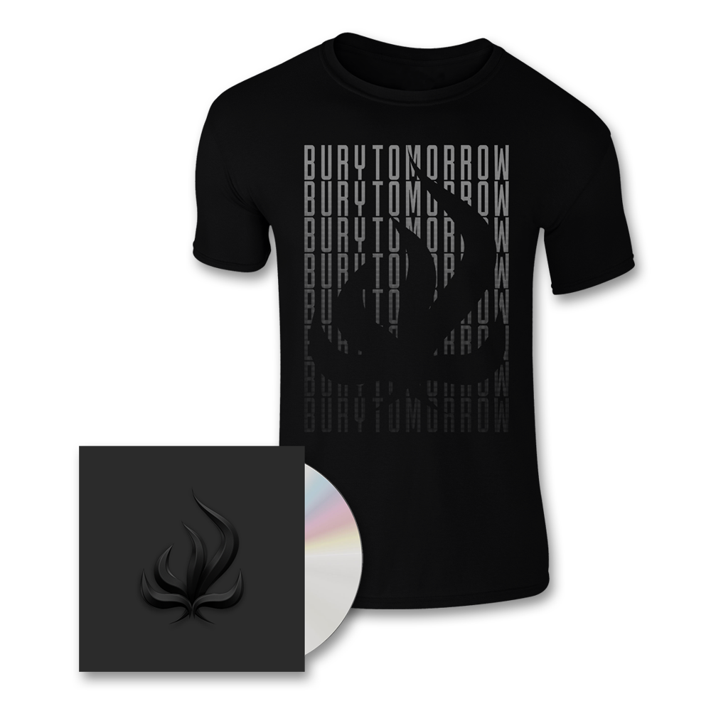 Buy Online Bury Tomorrow - Black Flame CD (Signed) + T-Shirt