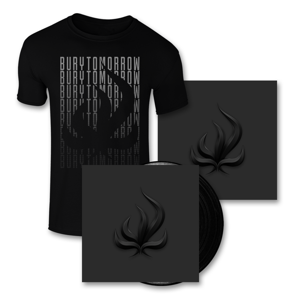 Buy Online Bury Tomorrow - Black Flame Black Vinyl + T-Shirt + 12 x 12 Print