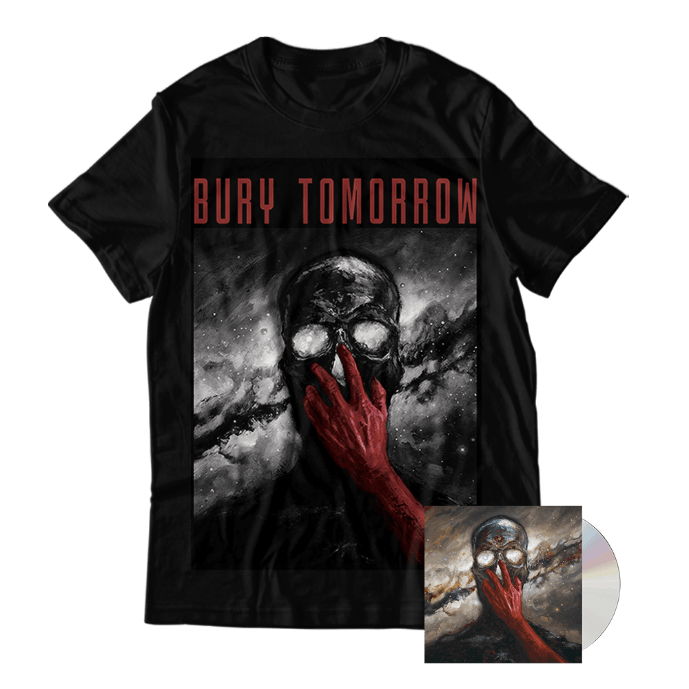 Buy Online Bury Tomorrow - Cannibal Deluxe CD + Cannibal T-Shirt + Signed A4 Print