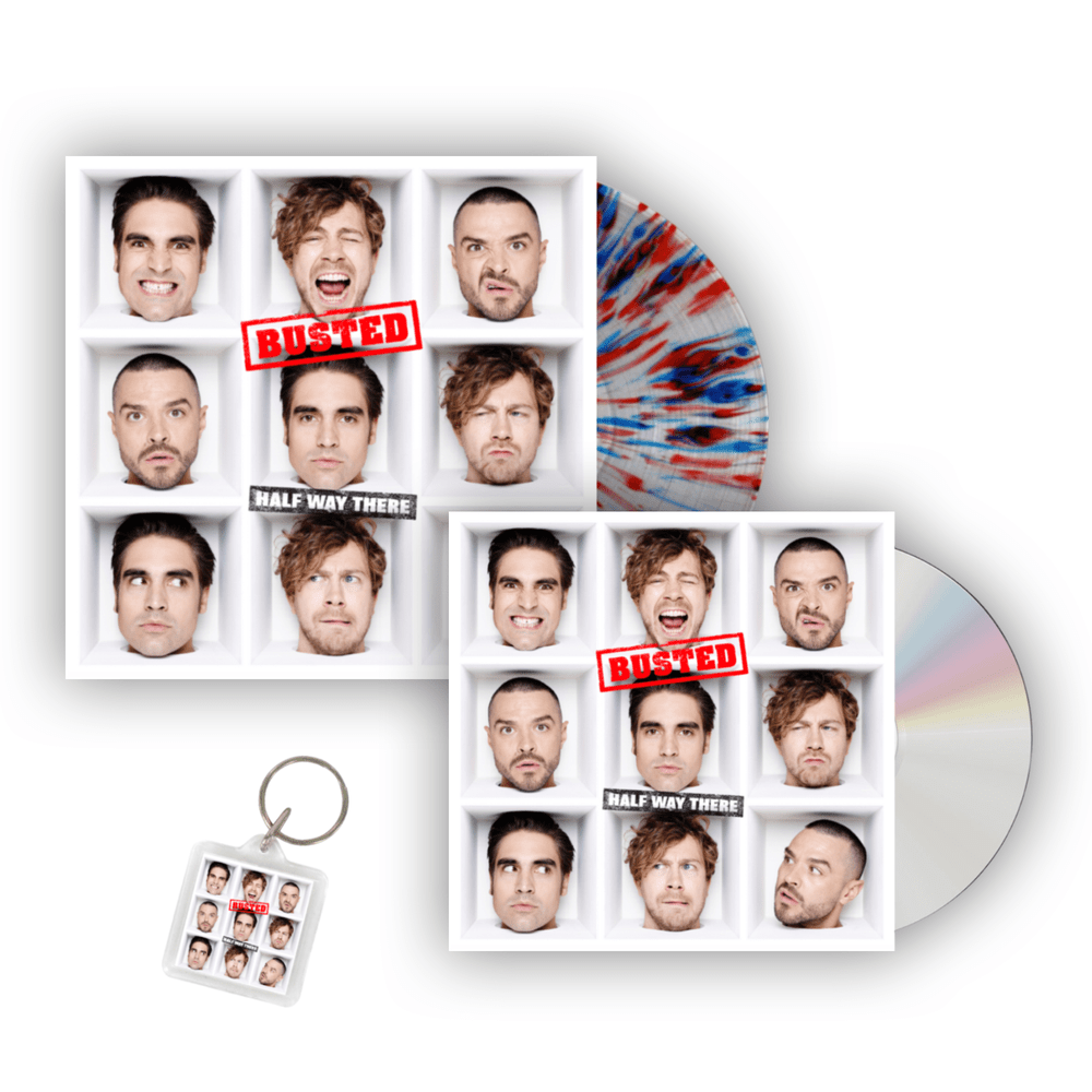 Buy Online Busted - Half Way There Signed CD + Exclusive Splattered Signed Vinyl + Keyring