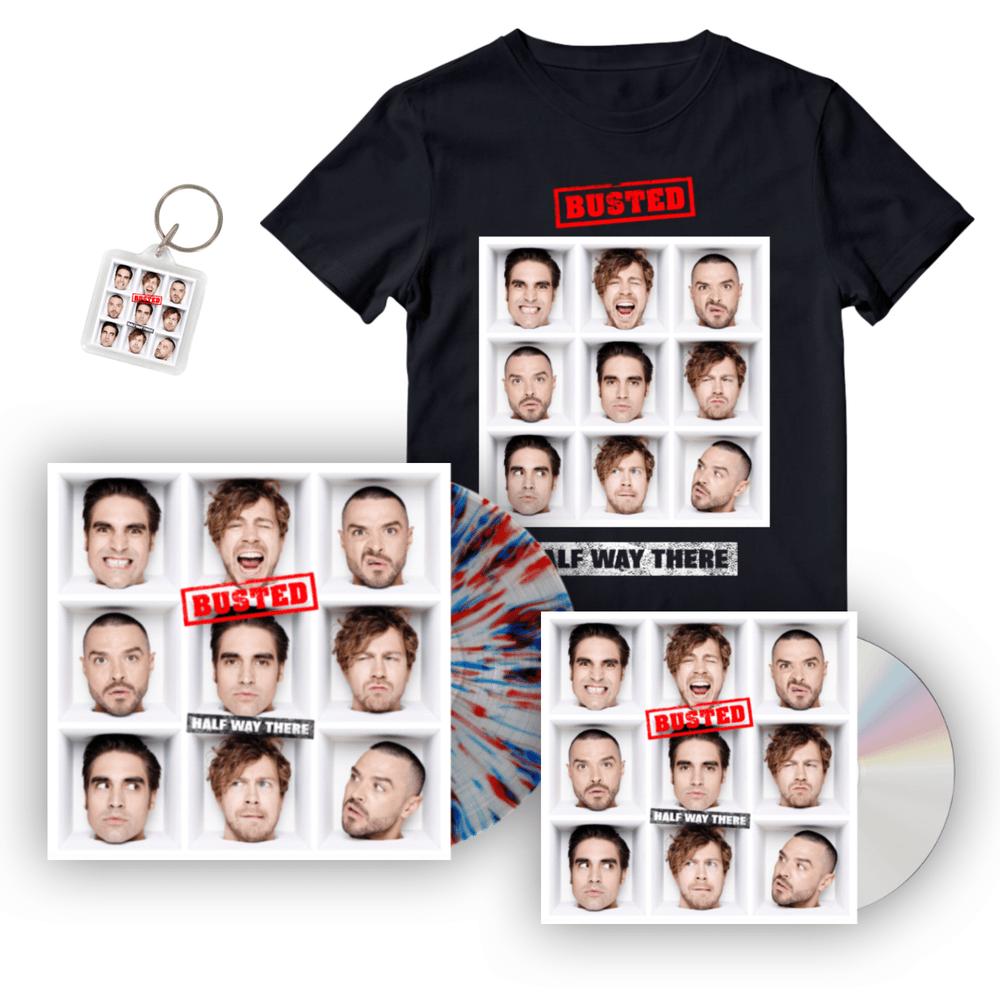 Buy Online Busted - Deluxe Bundle CD + Vinyl + T-Shirt + Keyring