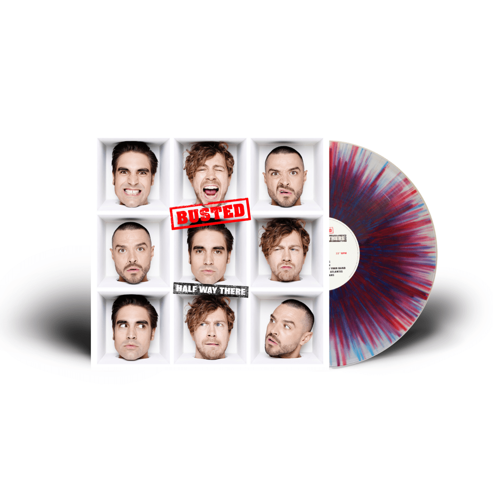 Buy Online Busted - Half Way There Blue/Red Splattered 140g Vinyl (Signed)