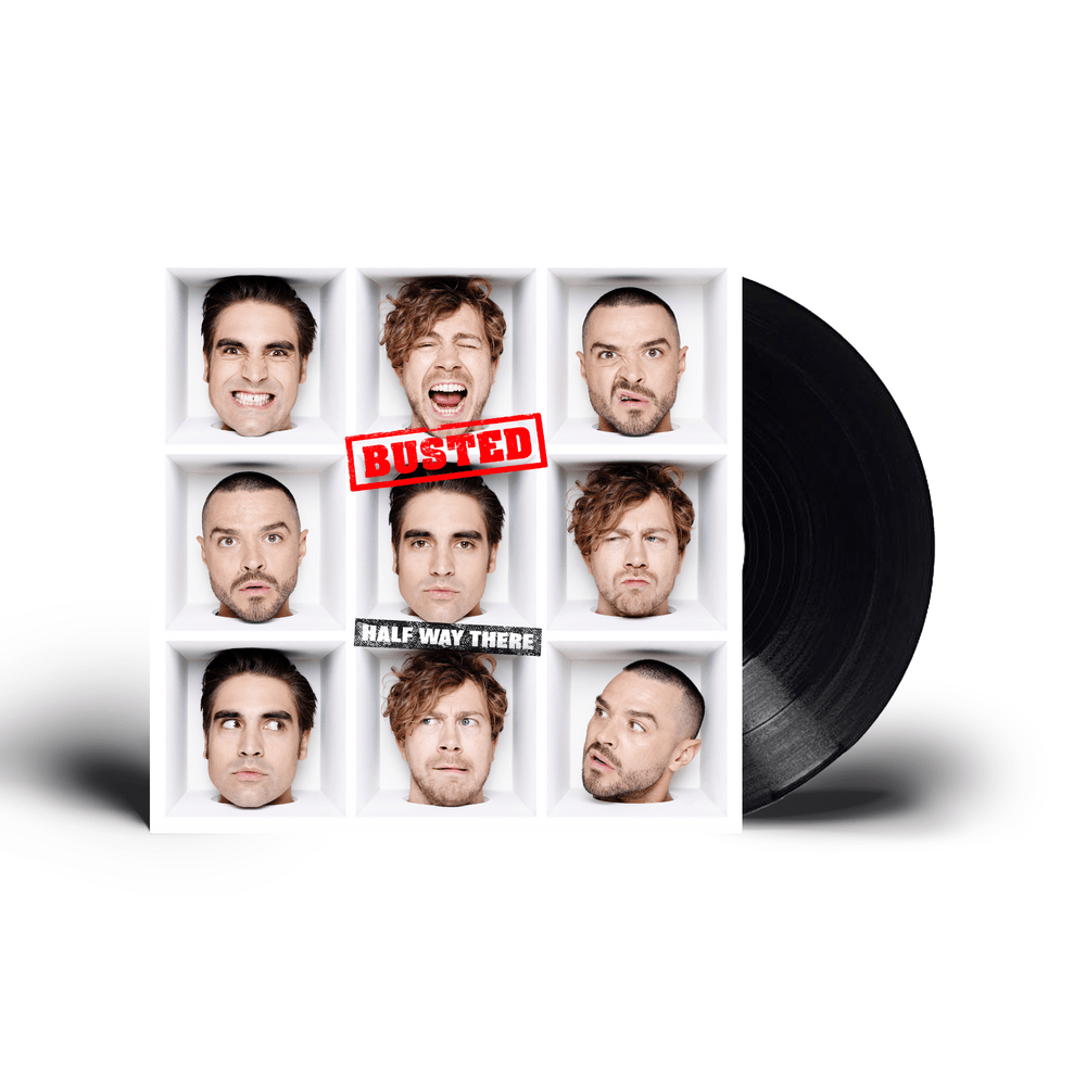 Buy Online Busted - HALF WAY THERE Black 180g Vinyl