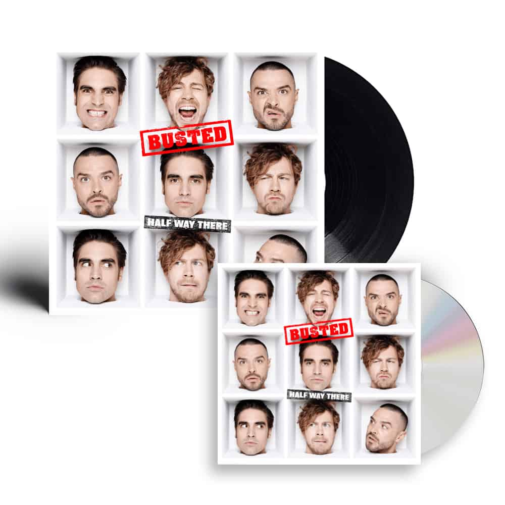 Buy Online Busted - Half Way There CD + Black Vinyl