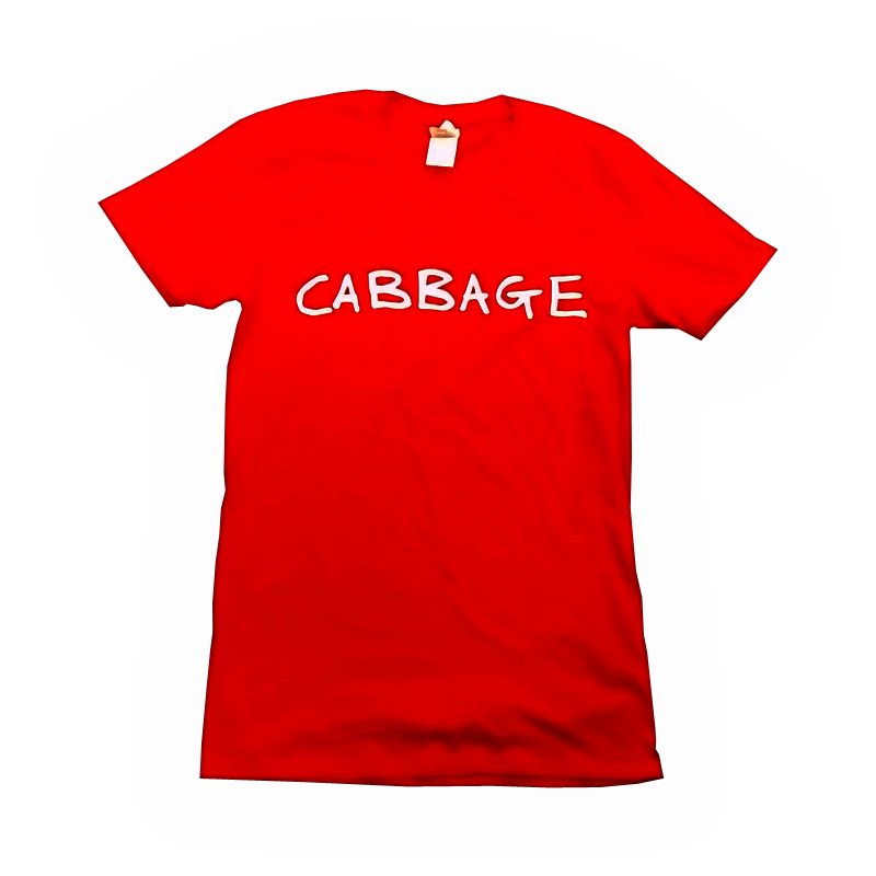 Buy Online Cabbage - Red Logo T-Shirt