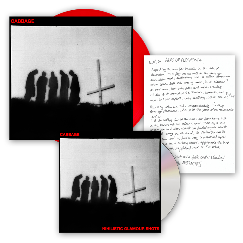 Buy Online Cabbage - Nihilistic Glamour Shots CD Album + Red Vinyl (Ltd Edition, Signed) + Signed Lyric Sheet