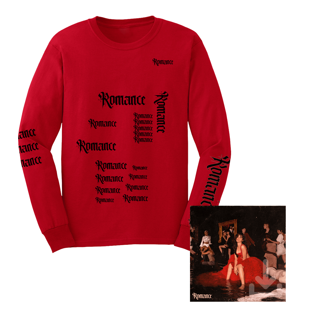 Buy Online Camila Cabello - Romance Digital Album + Long Sleeve T-Shirt