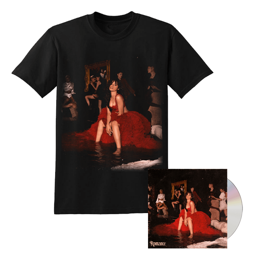 Buy Online Camila Cabello - Romance CD Album + T-Shirt