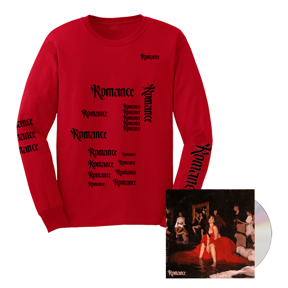 Buy Online Camila Cabello - Romance CD Album + Long Sleeve T-Shirt