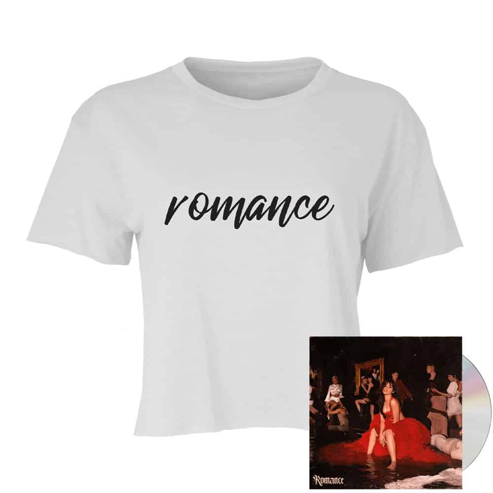 Buy Online Camila Cabello - Romance CD Album + Romance Paparazzi Cropped T-Shirt