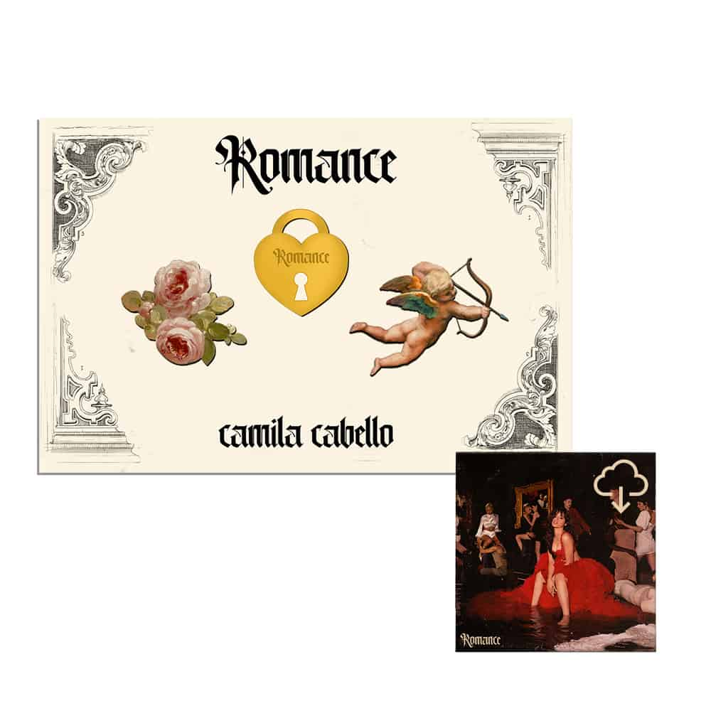 Buy Online Camila Cabello - Romance Digital Album + Enamel Pin Set