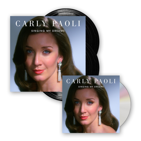 Buy Online Carly Paoli - Singing My Dreams CD (Signed) + Double Vinyl LP (Signed)