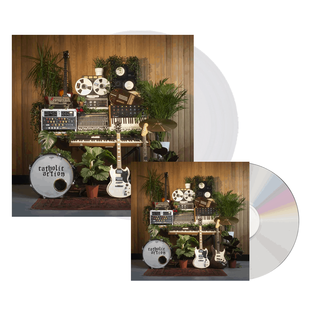 Buy Online Catholic Action - Celebrated By Strangers CD +  Clear Vinyl Bundle (Signed)