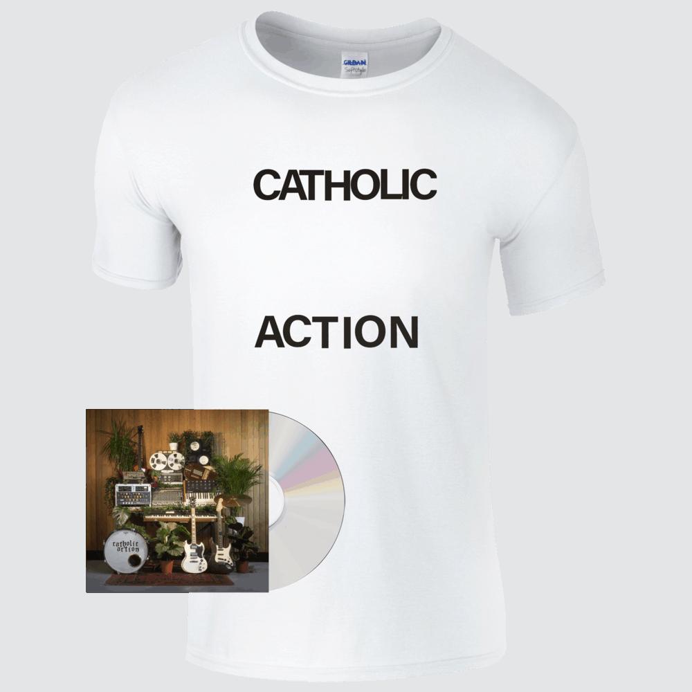 Buy Online Catholic Action - Celebrated By Strangers Limited Edition Personalised Cd Album (Signed) + T-Shirt Bundle