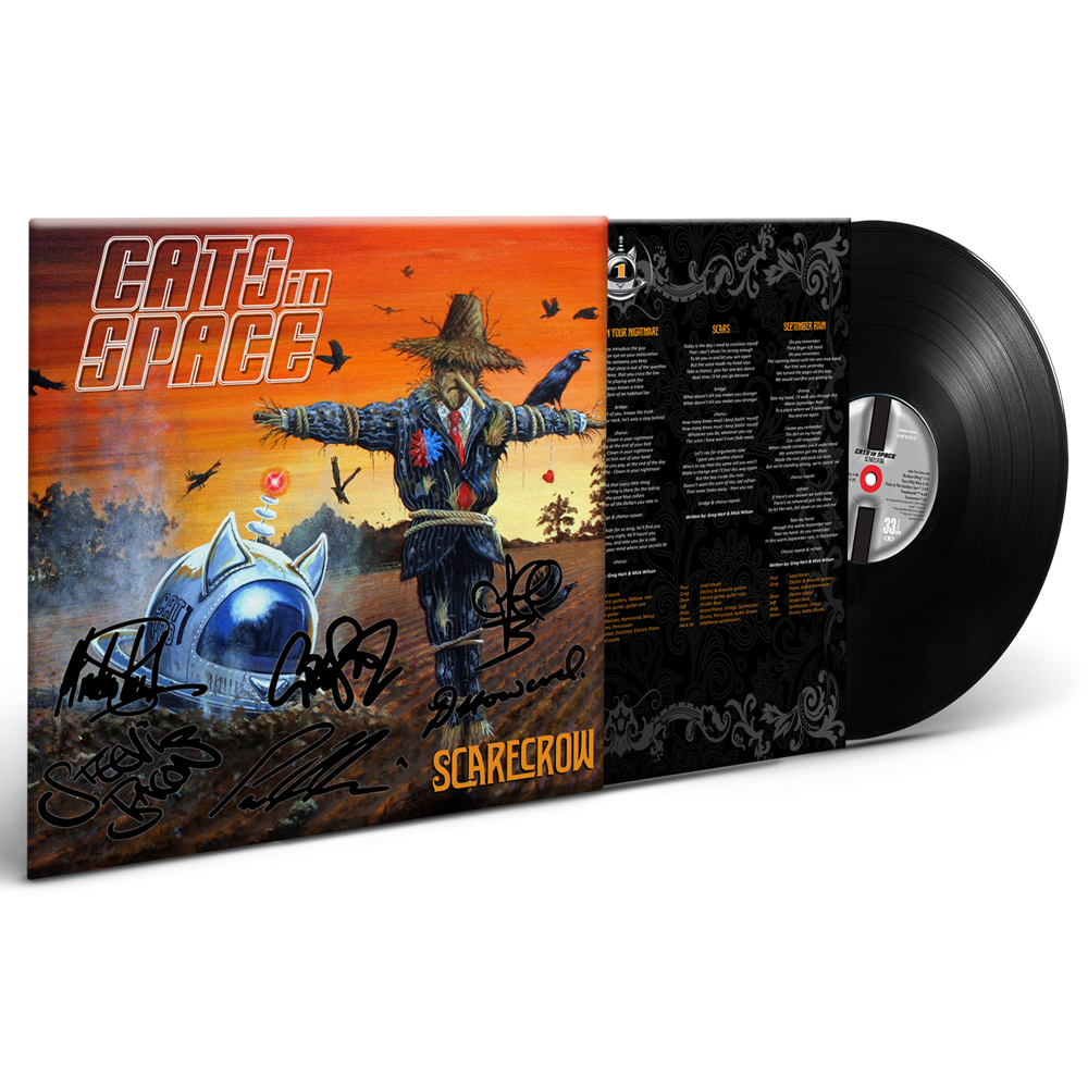 Buy Online Cats In Space - Scarecrow Signed Gatefold Vinyl