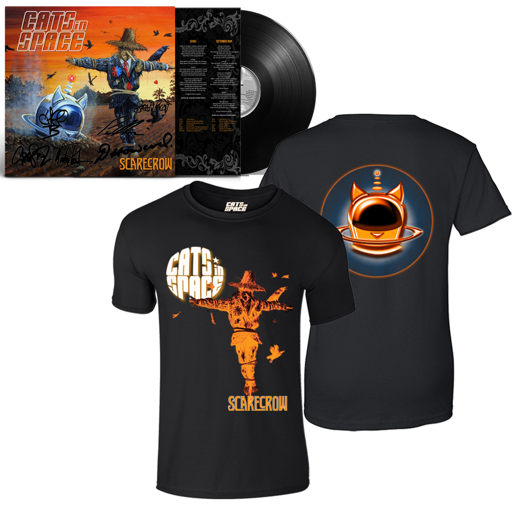 Buy Online Cats In Space - Scarecrow Signed Gatefold Vinyl + T-Shirt