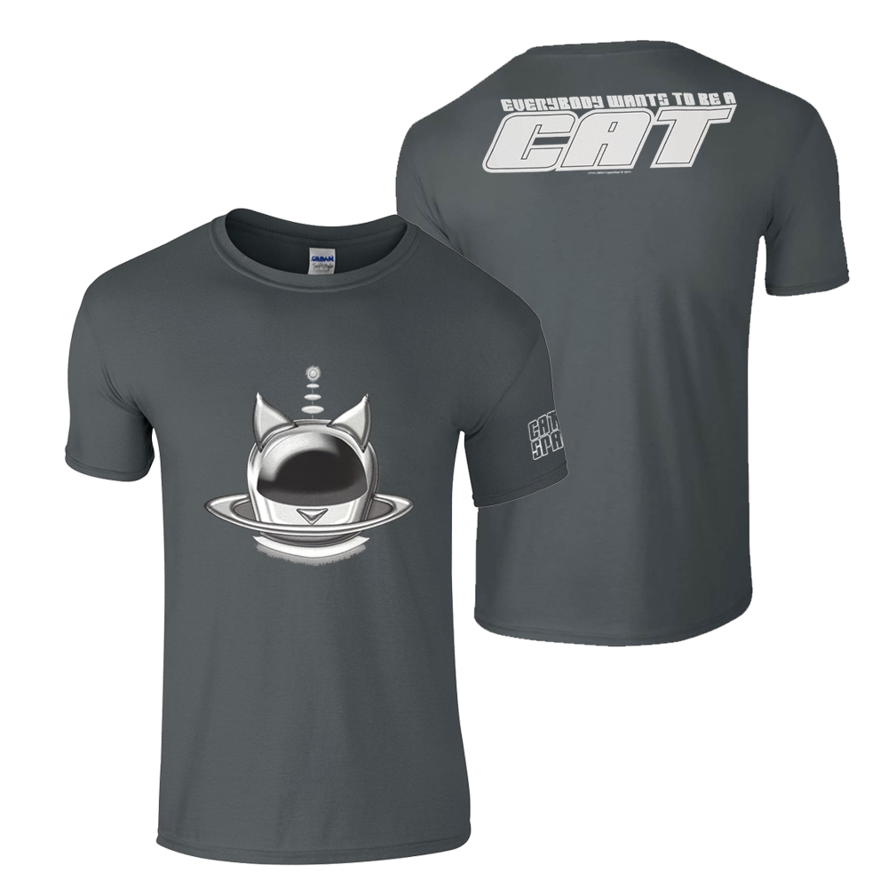Buy Online Cats In Space - Silver Halo Helmet Grey T-Shirt