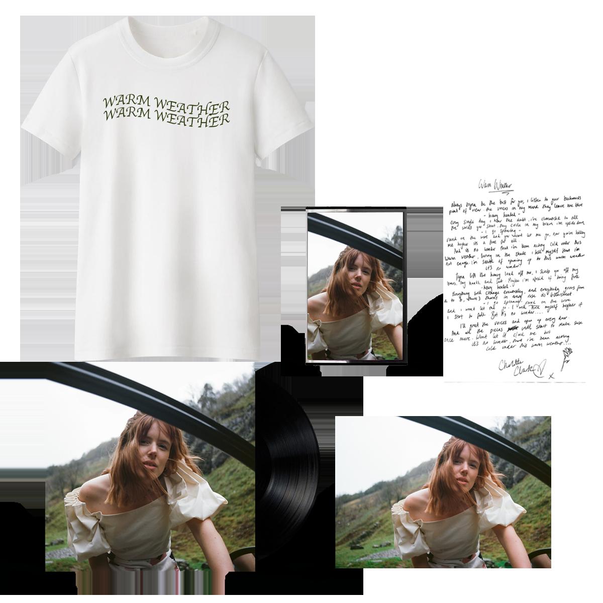 Buy Online Charlotte Clark - Warm Weather Vinyl 12-Inch EP (Signed) + Cassette + T-Shirt