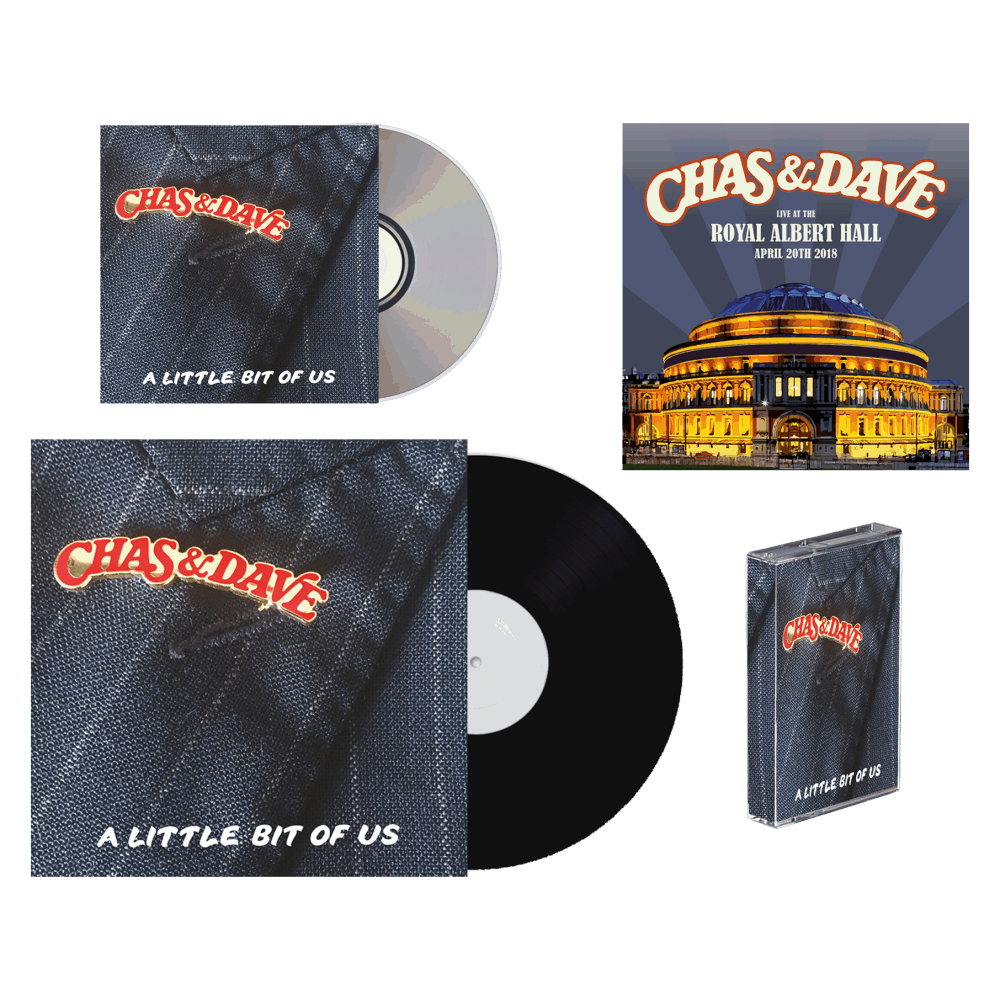 Buy Online Chas & Dave - A Little Bit of Us Signed CD,  Limited Edition LP, Cassette + Signed Royal Albert Hall Art Print