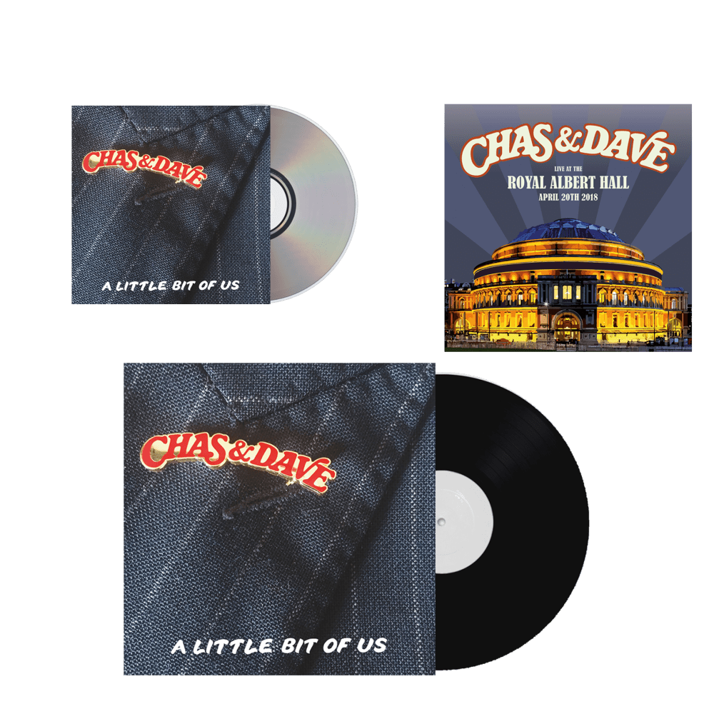 Buy Online Chas & Dave - A Little Bit of Us CD, Limited Editon LP + Royal Albert Hall Art Print