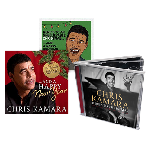 Buy Online Chris Kamara - Here's To Christmas + ...And A Happy New Year CD Album Bundle