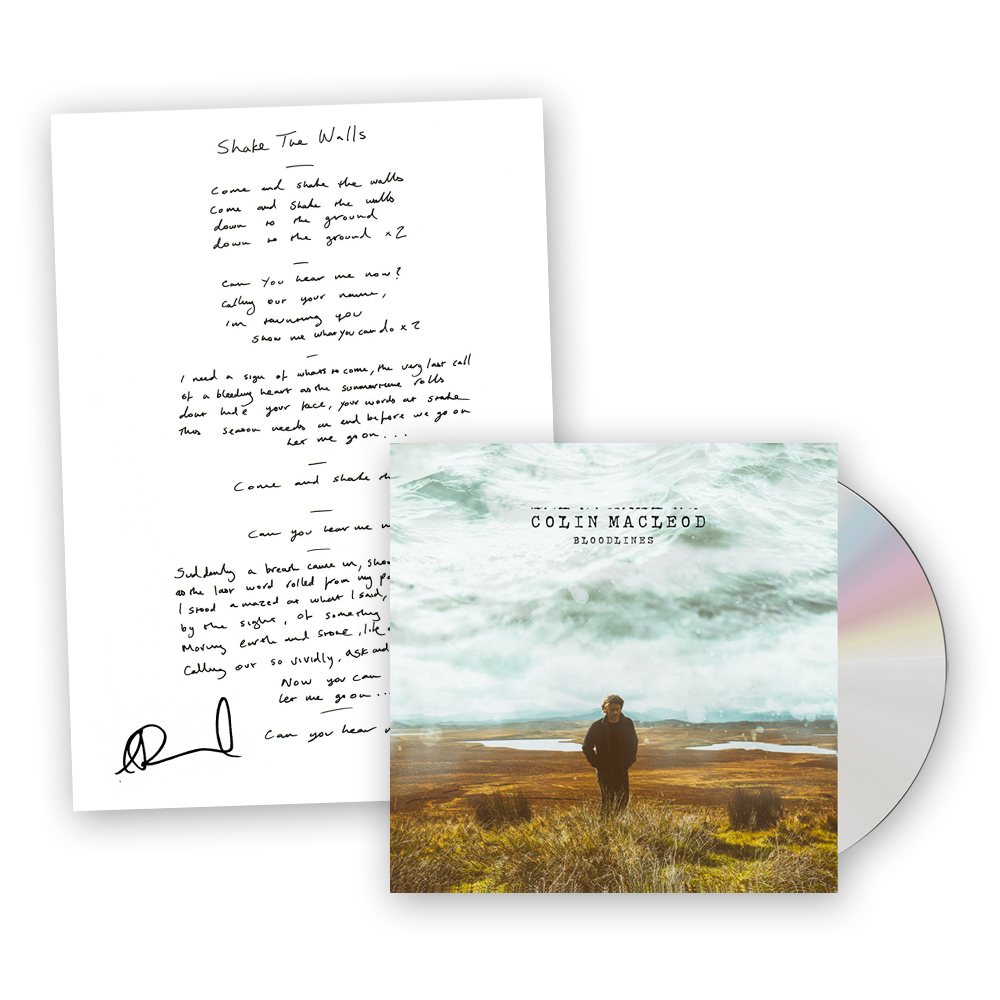 Buy Online Colin Macleod - Bloodlines CD (Free UK Postage) + Shake The Walls Signed Lyric Sheet