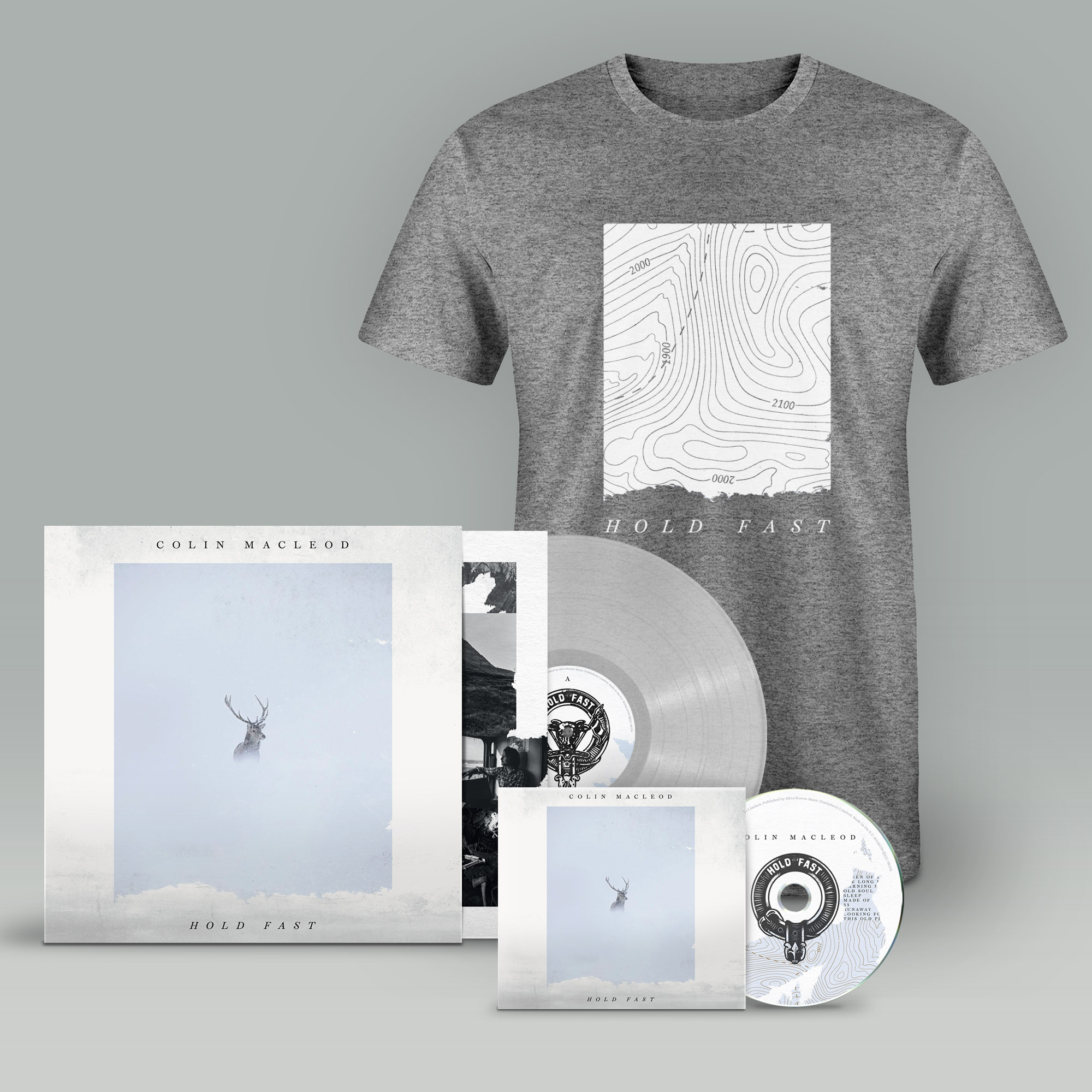 Buy Online Colin Macleod - Hold Fast CD (Signed) + Transparent Vinyl (Signed) + T-Shirt