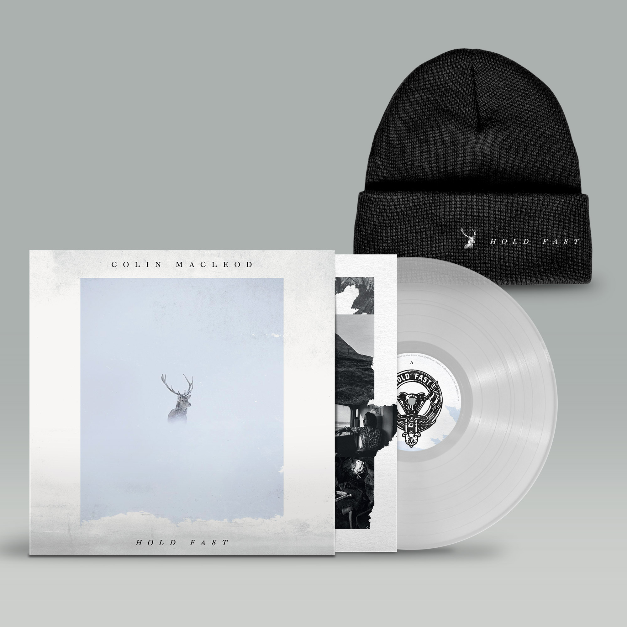 Buy Online Colin Macleod - Hold Fast Transparent Vinyl (Signed) + Beanie
