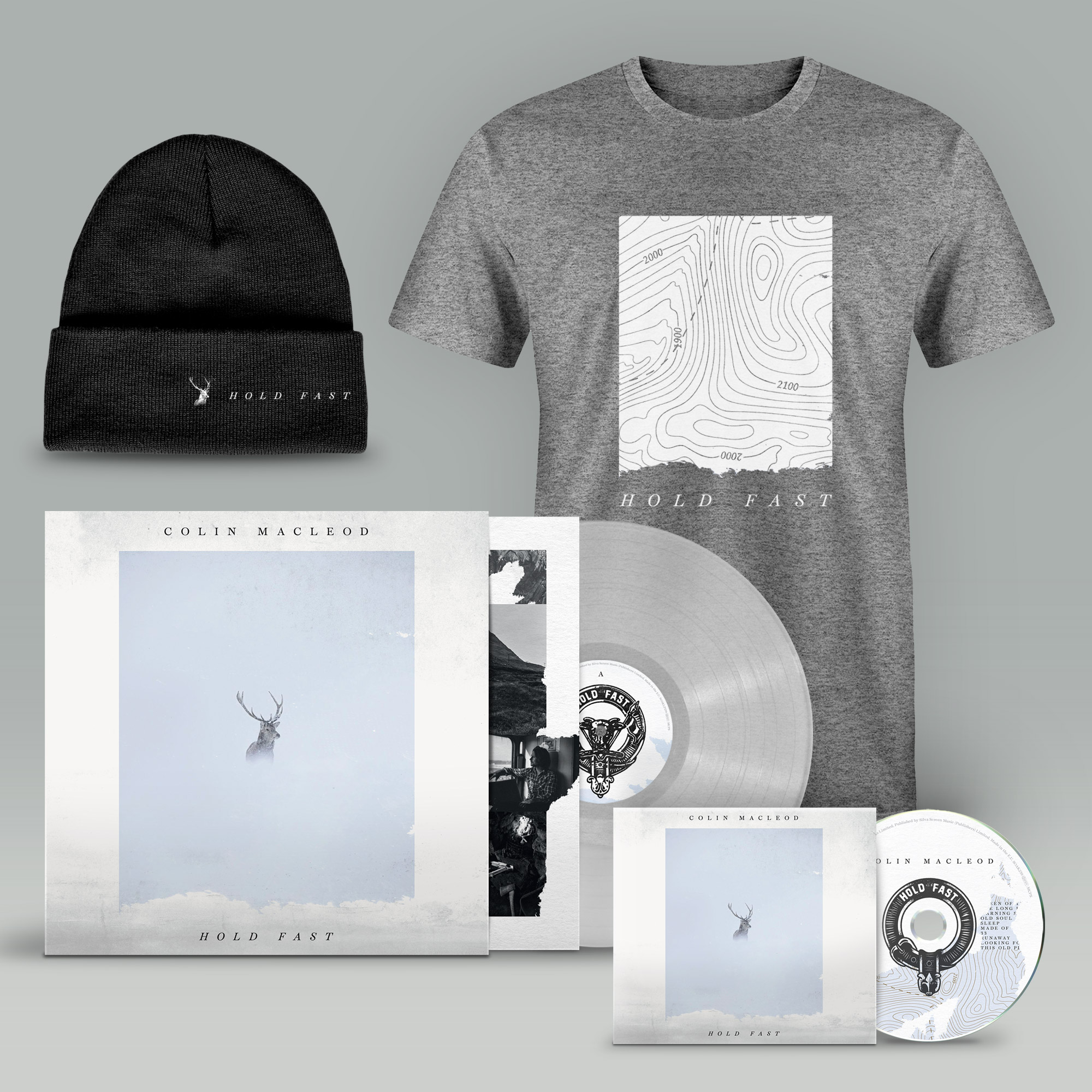 Buy Online Colin Macleod - Hold Fast CD (Signed) + Transparent Vinyl (Signed) + T-Shirt + Beanie