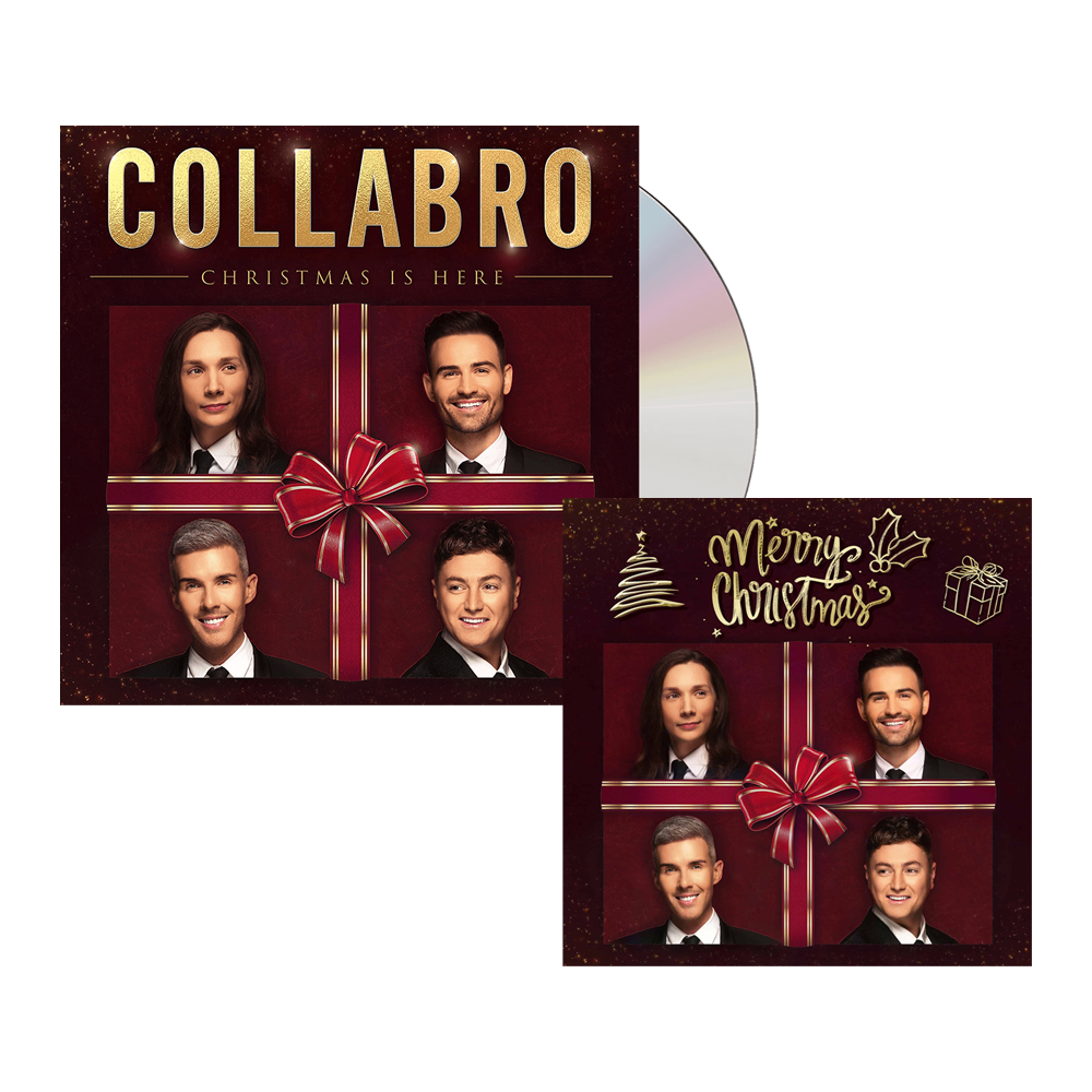 Buy Online Collabro - Christmas Is Here CD Album + Christmas Card (Signed)
