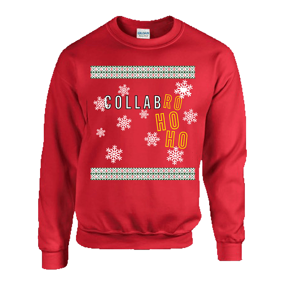 Buy Online Collabro - Collabro Ho Ho Christmas Sweatshirt (Red)