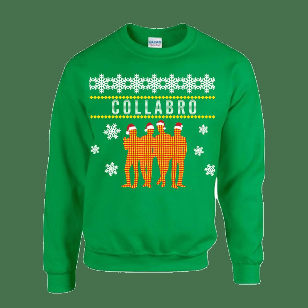 Buy Online Collabro - Collabro Silhouette Christmas Sweatshirt (Green)