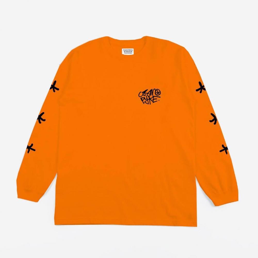 Buy Online Cosmo Pyke - Orange Long Sleeve T-Shirt