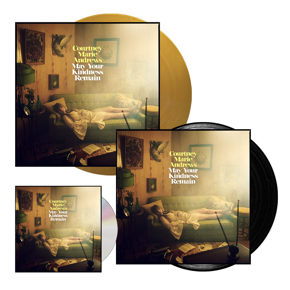 Buy Online Courtney Marie Andrews - May Your Kindness Remain Gold Vinyl + Black Vinyl + CD Album