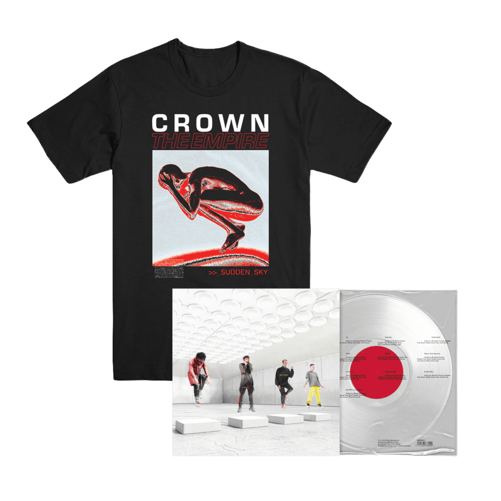 Buy Online Crown The Empire - Sudden Sky Clear Vinyl + T-Shirt