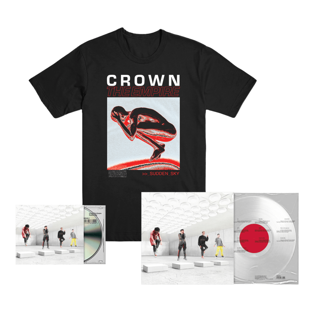Buy Online Crown The Empire - Sudden Sky CD + Clear Vinyl + T-Shirt