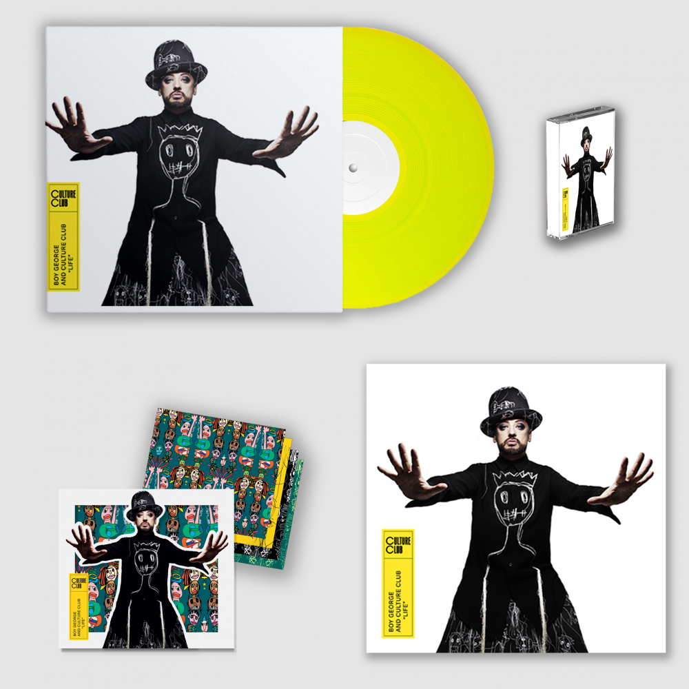 Buy Online Culture Club - Life Die Cut CD, LP, 12x12 Artwork Print + Cassette Bundle
