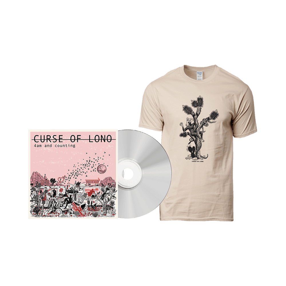 Buy Online Curse Of Lono - 4am And Counting CD + T-Shirt