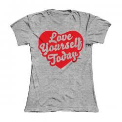 Buy Online Damien Dempsey - Girls Grey Love Yourself Today T-Shirt