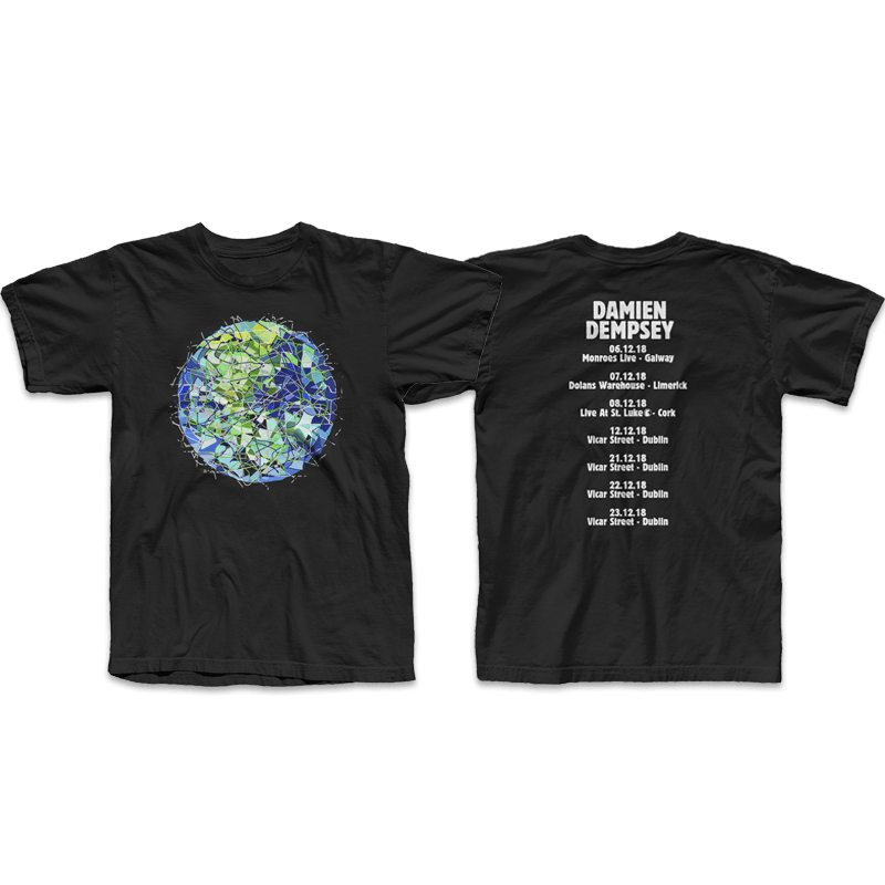Buy Online Damien Dempsey - Union Black T-Shirt