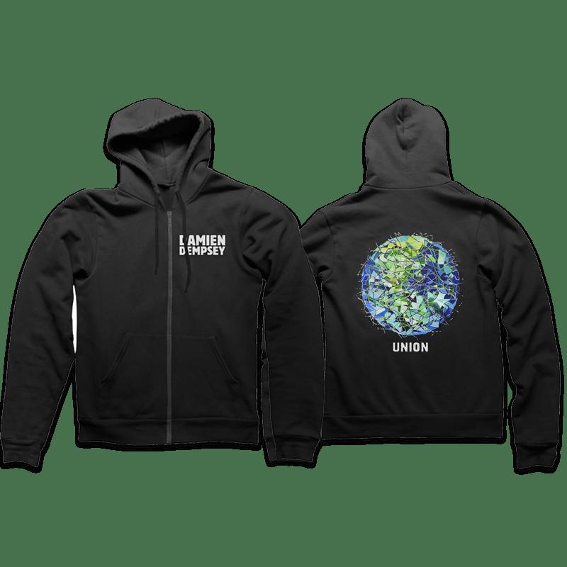Buy Online Damien Dempsey - Union - Black Hoodie