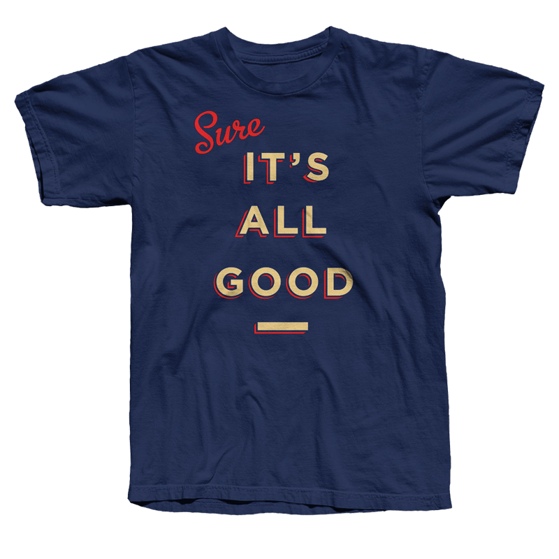 Buy Online Damien Dempsey - Its All Good Blue T-Shirt